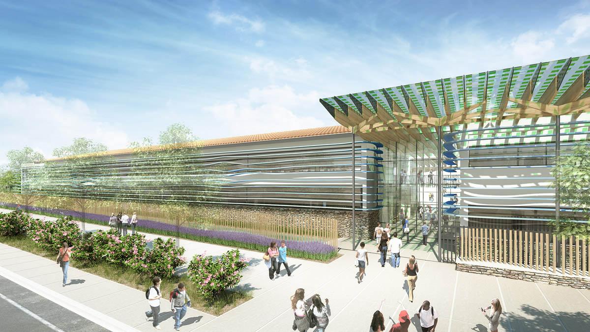 Infographie 3d en architecture concours valon pont d arc for Photo d architecture