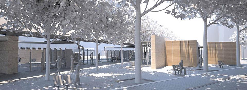 Volumetrie 3D maquette blanche - Gare Routière Aix en Provence
