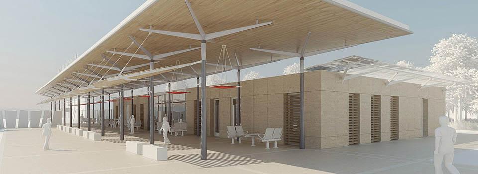Etude de matière et texture - Gare de Carpentras