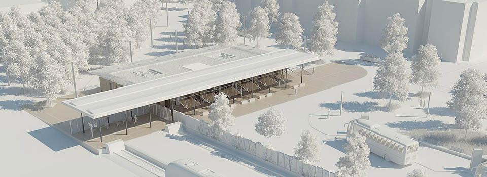 Maquette d'étude 3D - Gare de Carpentras