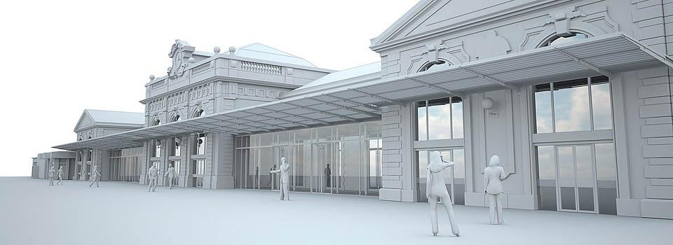 Volumetrie étude 3D - Gare de Toulon