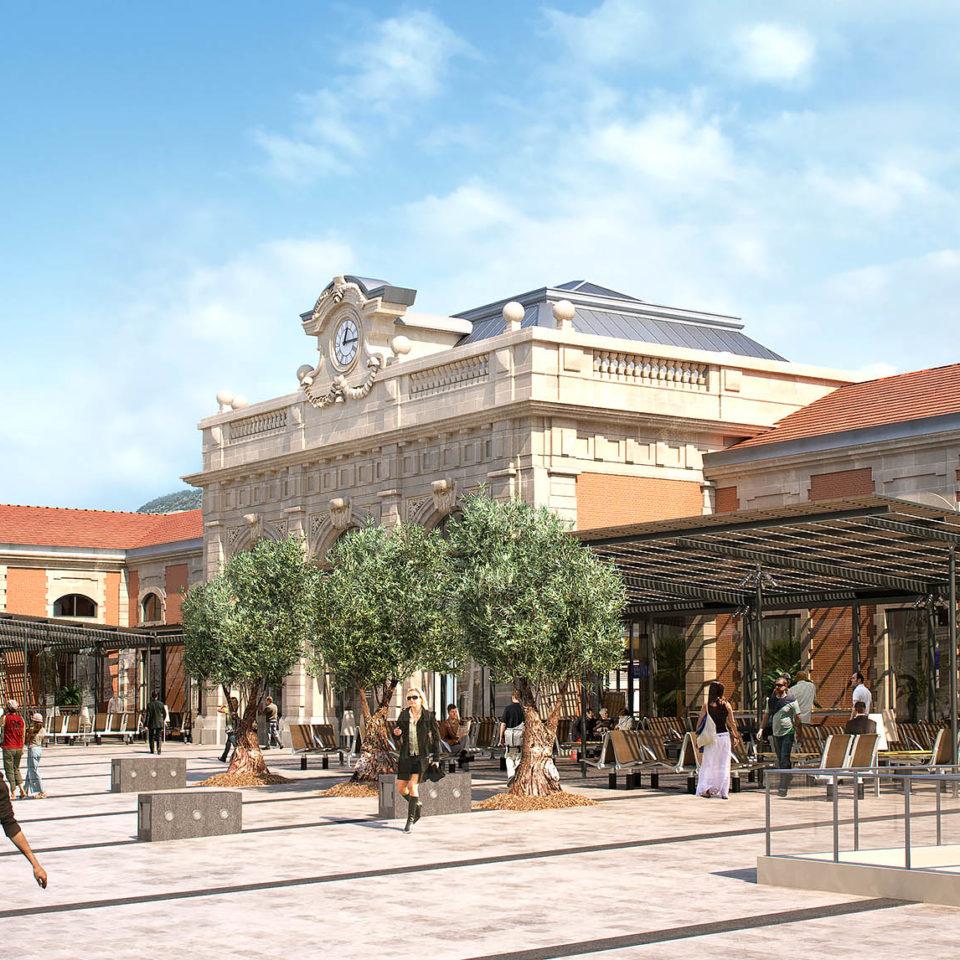 Perspective entièrement en synthèse 3D à Toulon