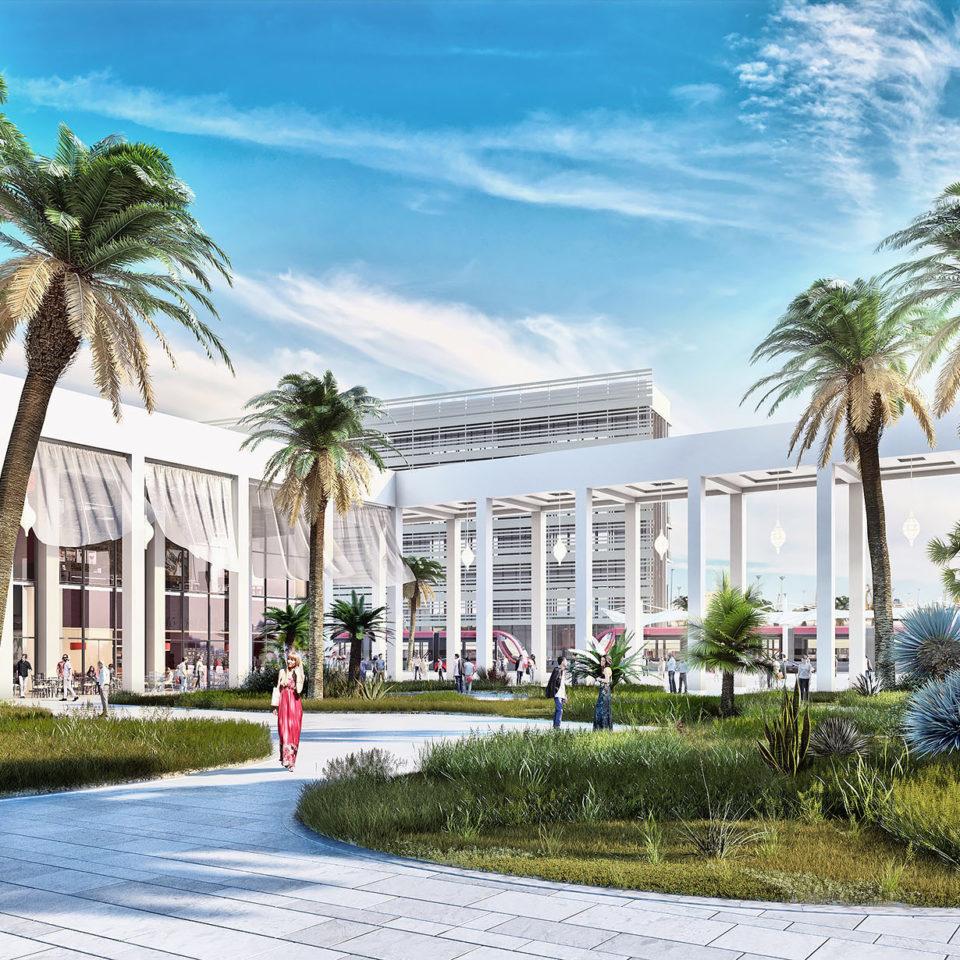 Image d'ambiance full 3D - Place Sidi Belyout à Casablanca