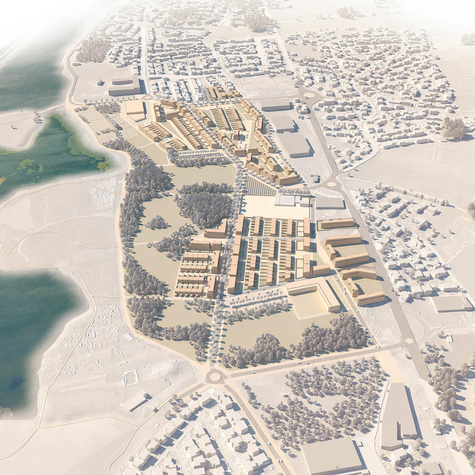 Rendu maquette 3D - Urbanisme et planification urbaine - Frontignan Les Hierles