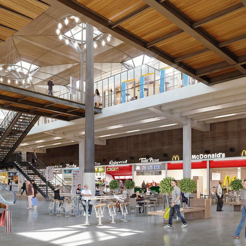 Rendu 3D de la maille commerciale de la gare de Casa Port au Maroc