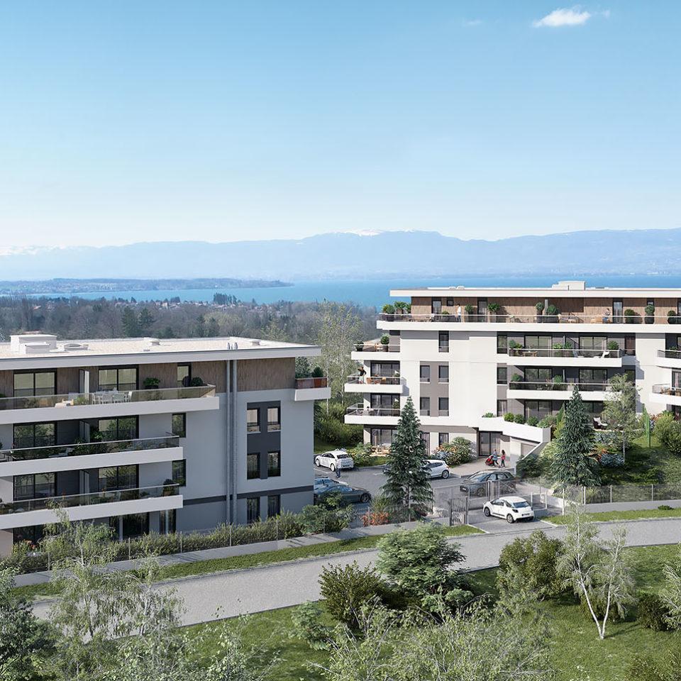 Volet paysager d'une résidence à Thonon Les Bains