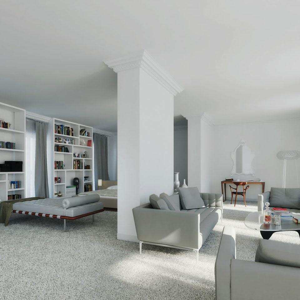 Pers d'intérieure 3D d'un hôtel particulier à Monaco