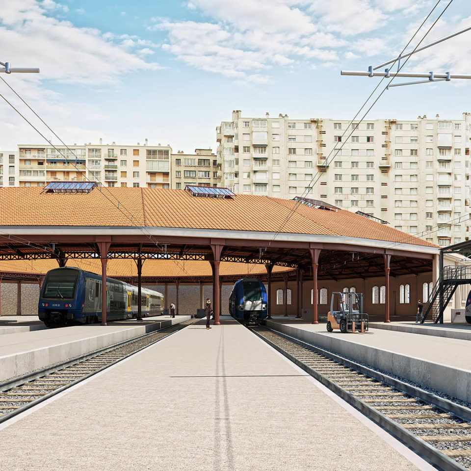 Perspective avec intégration photo - Rotonde Pautrier - Marseille
