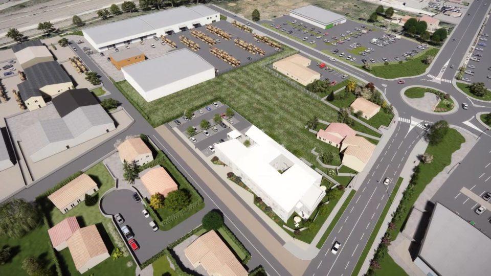 Film d'animation 3D pour le concours d'architecture du Pôle Social de Porte Lès Valence - Département de la Drome