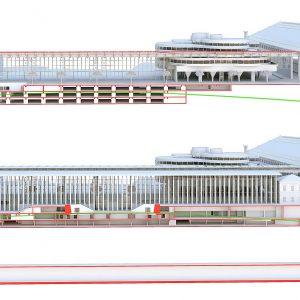 Coupe 3D - Gare SNCF Marseille Saint Charles - Gares & Connexions