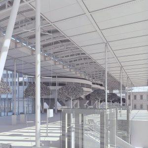 Volumétrie 3D maquette blanche - Gare de Marseille Saint Charles 5
